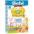 Каша Bebi Premium 5 злаков с малиной и абрикосом с 6 мес. (мол.)