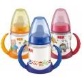"""Бутылочка-поильник NUK """"First Choice"""" с насадкой для питья с силиконовой соской с 6 мес. (пластик)  (арт. 10 743 392)"""
