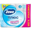 Туалетная бумага Zewa Плюс белая 2 слоя