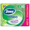 Туалетная бумага Zewa Плюс Яблоко 2 слоя