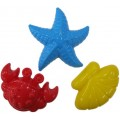Набор формочек Полесье (краб № 2, морская звезда № 2, ракушка № 2) (арт. 36544)