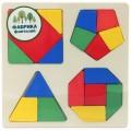 Игрушка-вкладыш Фабрика фантазий «Фигуры» деревянная на квадратной основе (арт. 41772)