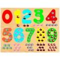 Пазл Wooden Toys «Паровозик Тишка. Учим цифры» с 3 лет (арт. D278)