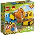 Конструктор LEGO DUPLO Грузовик и гусеничный экскаватор (арт. 10812)