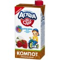 Компот Агуша Клубника-яблоко-черноплодная рябина с 3 лет