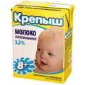 Молоко стерилизованное Крепыш для детского питания с 8 месяцев 3,2 %