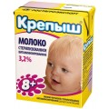 Молоко Крепыш для детского питания с 8 месяцев 3,2 %
