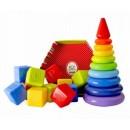Неваляшки, юлы, пирамидки, кубики, шары