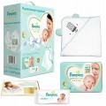 Набор подарочный Pampers Подгузники Premium Care Эконом упаковка 4-8 кг. 66 шт. (с полотенцем)