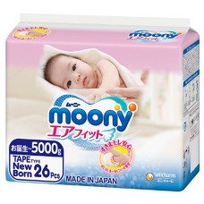 Подгузники Moony до 5 кг.