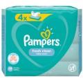 Cалфетки влажные Pampers Fresh Clean Quatro