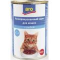 Корм для кошек Aro консервированный с рыбой
